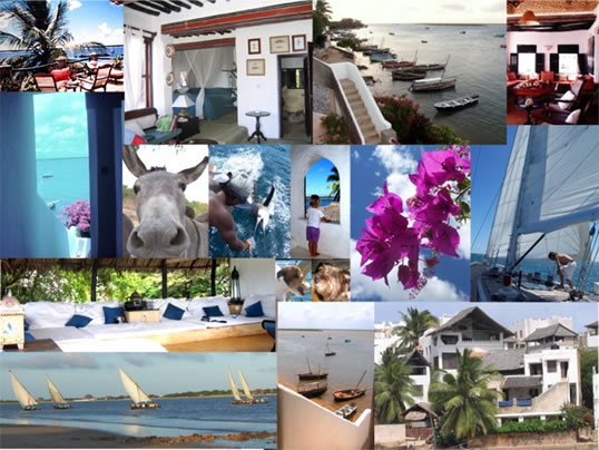 Fishtrap House Lamu Retreats collage